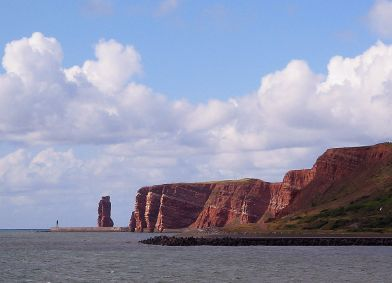 Rote Felsküste auf Helgoland