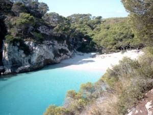 Bucht der Insel Menorca