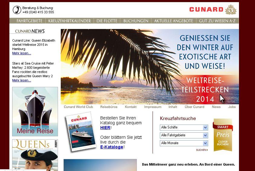 Cunard in Very british: Mittelmeerkreuzfahrt auf der Queen Elizabeth der Cunard Line
